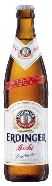 ERDINGER Weißbier Leicht 0,5 Liter Flasche
